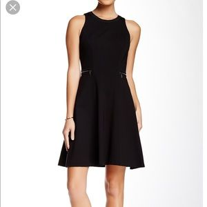 Rebecca Taylor black fit and flare dress.